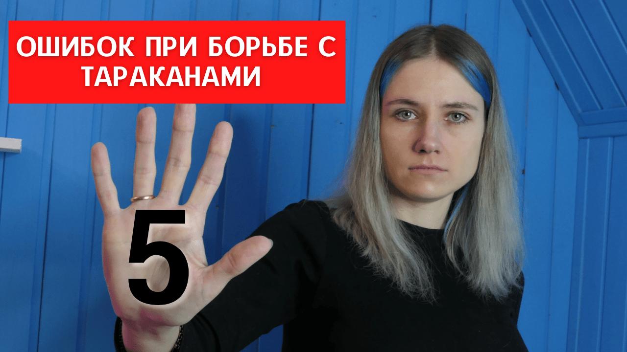 5 основных ошибок при борьбе с тараканами. Видео